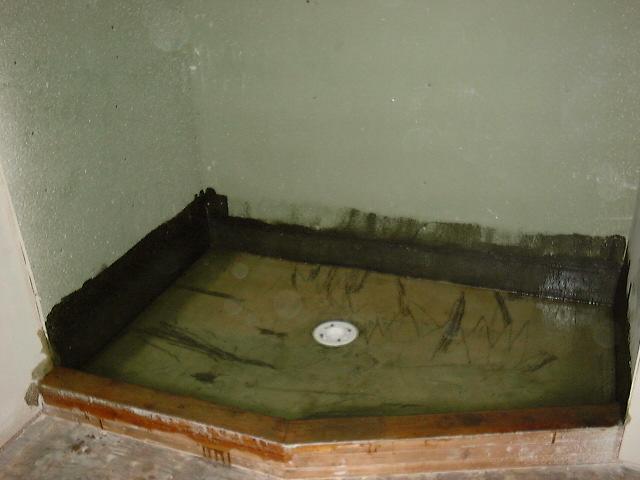 AFTER   Fiberglass Lined Shower Floor